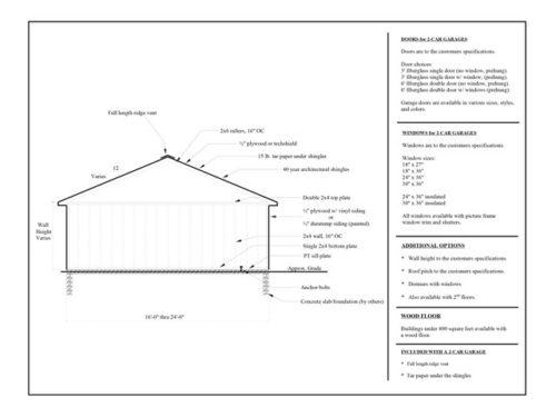 2 car garage design sketch
