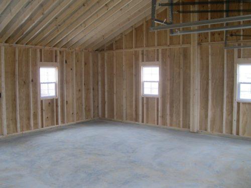 two car garage interior