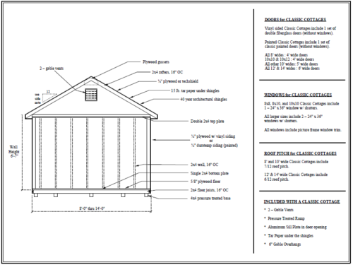classic cottage shed sketch