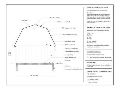 dutch barn garage layout