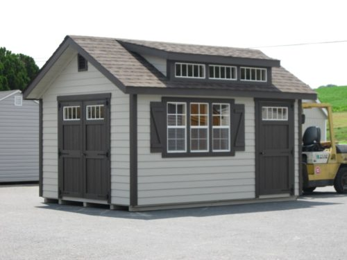 classic studio dormer shed with forklift