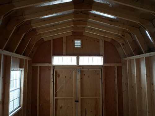 interior of classic dutch barn shed doors and windows