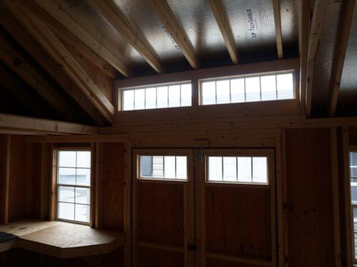 interior of classic studio dormer shed