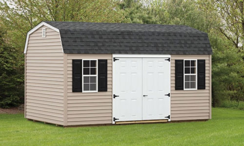 outdoor man cave shed sitting on grass surface